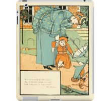 The Buckle My Shoe Picture Book by Walter Crane 1910 71 - Who Ran to Help Me When I Fell iPad Case/Skin
