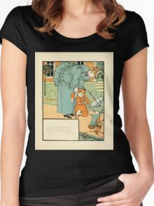 The Buckle My Shoe Picture Book by Walter Crane 1910 71 - Who Ran to Help Me When I Fell Women's Fitted Scoop T-Shirt