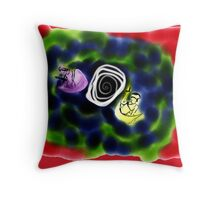Modular Fite in Tie Die Throw Pillow