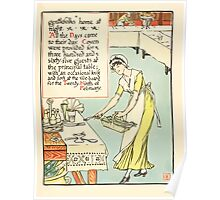 A Masque of Days - From the Last Essays of Elia 1901 illustrated by Walter Crane 11 - Gentlefolks home at night Poster