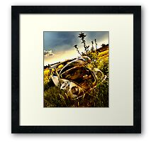 someone stole my engine and I've been stuck here for years Framed Print