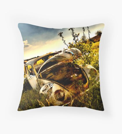 someone stole my engine and I've been stuck here for years Throw Pillow