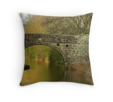 Bridge 20 - Ashby Canal Throw Pillow