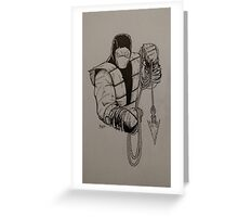 Hells Ninja Greeting Card