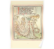 Queen Summer, or, The Tourney of the Lilly and the Rose by Walter Crane 1891 30 - The doughty champions could not rise Poster