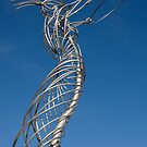 Nula with the Hula in Belfast by the Lagan River by Jon Lees