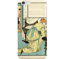 The Buckle My Shoe Picture Book by Walter Crane 1910 65 - Who Sat and Washed My Newborn Head iPhone Case/Skin