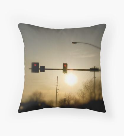 Red Light Means Stop Throw Pillow