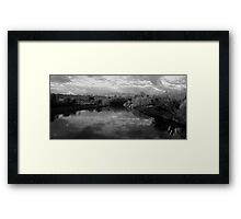 B&W Boyne River Framed Print
