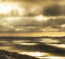 Outlook from Arthur's Seat, Mornington Peninsula - sunrays between clouds. Sticker