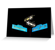 Broadway & West 33rd Greeting Card