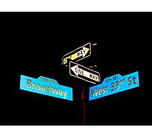 Broadway & West 33rd Photographic Print