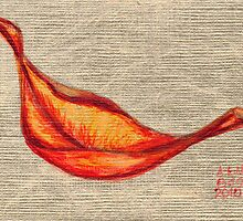 Red On Gold by Amy-Elyse Neer