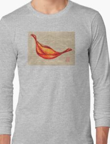 Red On Gold Long Sleeve T-Shirt