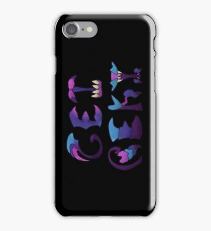 Get Rekt - black background iPhone Case/Skin