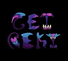 Get Rekt - black background by mikecollective