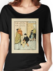 The Buckle My Shoe Picture Book by Walter Crane 1910 16 - One Two Buckle my Shoe Three Four Open The Door Women's Relaxed Fit T-Shirt