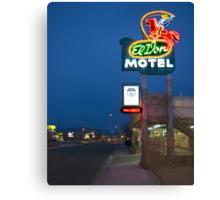 Route 66 and the El Don Motel, Albuquerque Canvas Print