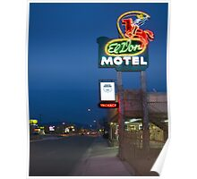 Route 66 and the El Don Motel, Albuquerque Poster