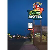 Route 66 and the El Don Motel, Albuquerque Photographic Print