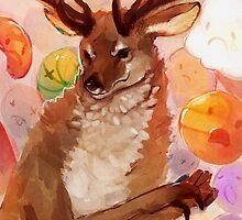 Deer with Hands by Cynthia Williams