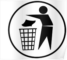 Recycle / Rubbish Icon Poster