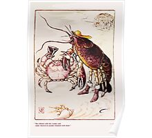 Rumbo Rhymes, or, The Great Combine a Satire by Alfred Calmour illustrated by Walter Crane 31 - The Lobster with his Cousin Crab Poster