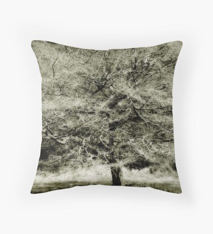 Cotton Candy Tree Throw Pillow