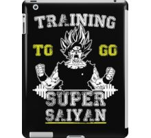 TRAINING TO GO SUPER SAIYAN (WHITE) iPad Case/Skin