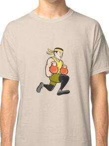 Crossfit Runner With Kettlebell Cartoon Classic T-Shirt