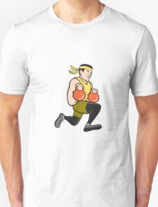 Crossfit Runner With Kettlebell Cartoon T-Shirt