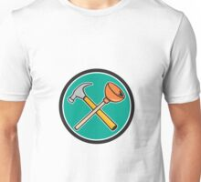Crossed Hammer Plunger Circle Cartoon Unisex T-Shirt