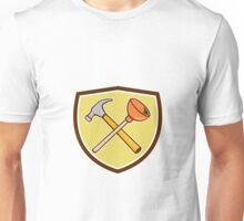 Crossed Hammer Plunger Crest Cartoon  Unisex T-Shirt