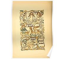 The Golden Primer by John Miller Dow, Illustrated by Walter Crane 1884 12 - Band Land Hand Strand Sand Stand Wand Poster