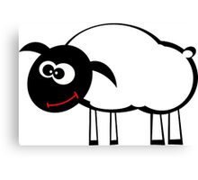 Cartoon Sheep Canvas Print