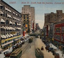 1936 Kansas City, MO, Main Street South  from the Junction by Steve Sutton