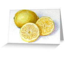 Lemon Wedges Greeting Card