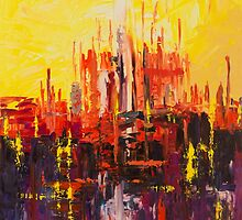 ABSTRACT - Castle Reflections - 2015 by RmvPortraitsArt
