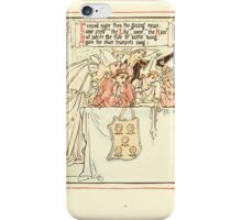 Queen Summer, or, The Tourney of the Lilly and the Rose by Walter Crane 1891 24 - Pressed eager then the glazing rows iPhone Case/Skin