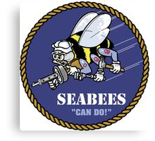 US NAVY SEABEES CAN DO! Canvas Print