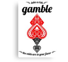 Gamble Canvas Print
