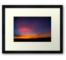 Desert sunset Photographed in Israel, Negev Framed Print