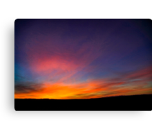 Desert sunset Photographed in Israel, Negev Canvas Print