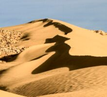 wind shaped Desert sand dune Sticker