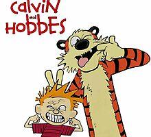 Calvin And Hobbes Together Artwork by ReallityArtwork
