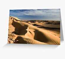 wind shaped Desert sand dune Greeting Card