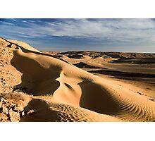 wind shaped Desert sand dune Photographic Print