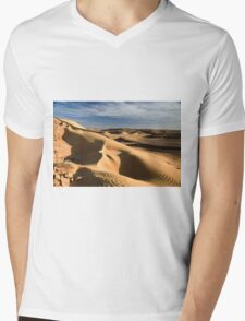 wind shaped Desert sand dune Mens V-Neck T-Shirt