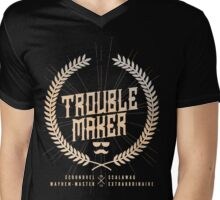Trouble Maker Mens V-Neck T-Shirt