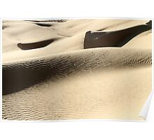 wind shaped Desert sand dune Poster